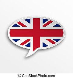English 3d speech Bubble