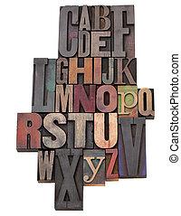 English alphabet abstract