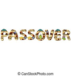 English alphabet for the holiday of Passover of letters with...