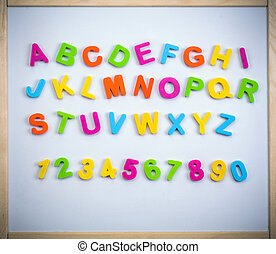 English alphabet from plastic letters