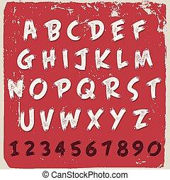 English alphabet grunge design
