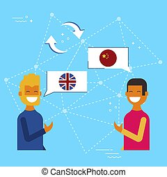 English and chinese online chat translation