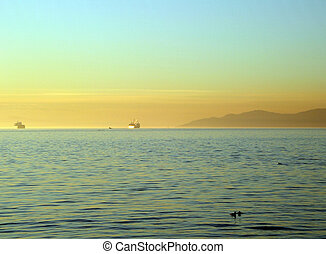English Bay in Vancouver - View of English Bay from Stanley...