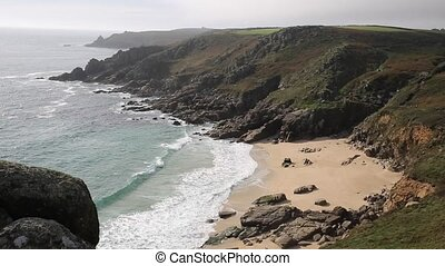 English beach in autumn Cornwall - English beach in autumn ...