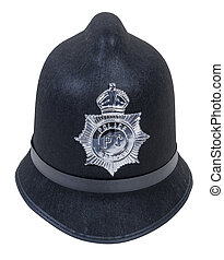 English Bobby Hat - Black English Bobby policeman hat with...