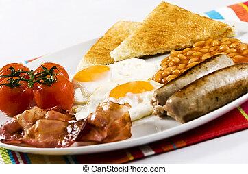 English Breakfast - english breakfast served on white plate