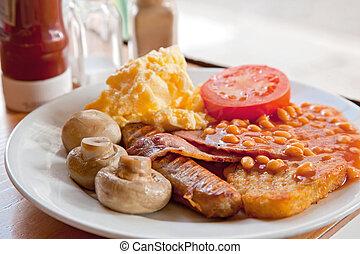 English Breakfast - Full English Breakfast on Table