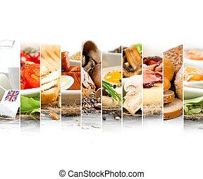 English Breakfast - Photo of English Breakfast mix slices...