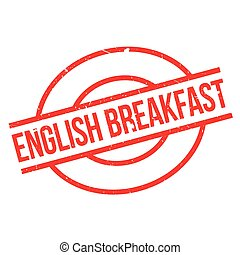 English Breakfast rubber stamp