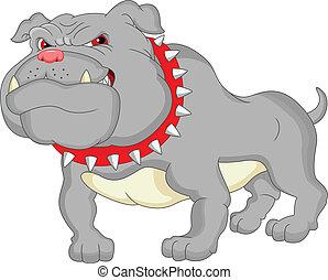English bulldog cartoon illustration