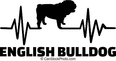 English Bulldog frequency - Heartbeat frequency with English...
