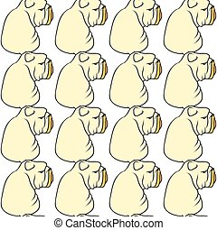English bulldog pattern seamless