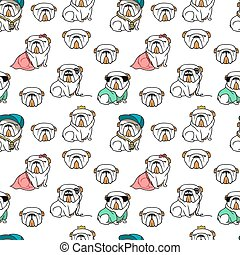 English bulldog pattern seamless. Dog pattern seamless