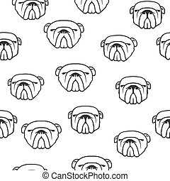 English bulldog pattern seamless