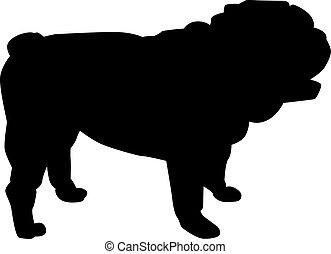 English bulldog silhouette