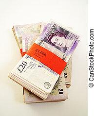 English bundles of money