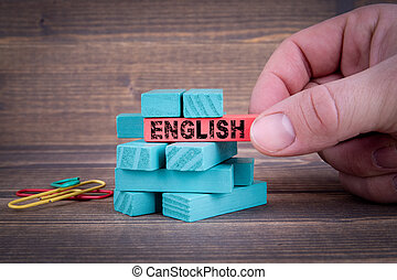 English Business and Education Concept
