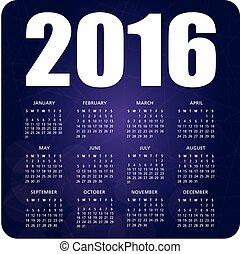 English calendar purple 2016
