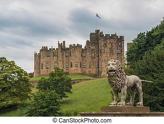 English Castle - Alnwick Castle. Alnwick. Northumberland....
