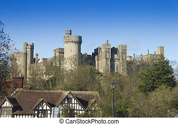 English castle - The majestic Arundel castle rising above...
