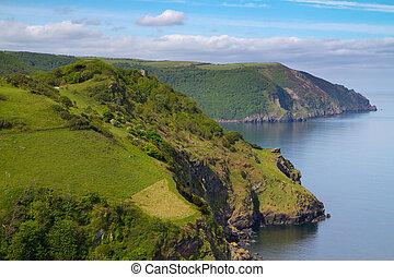 English coast Devon