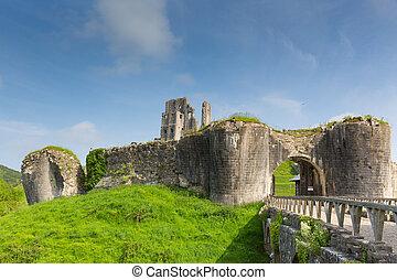 English Corfe Castle Dorset uk