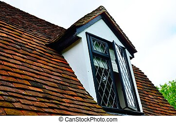 Cottage window in roof