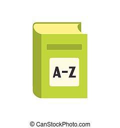 English dictionary flat icon isolated on white background