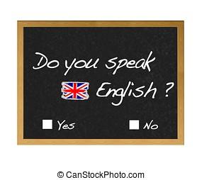 English. - Do you speak english.