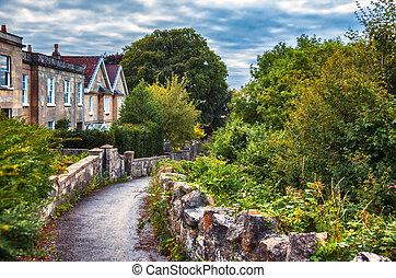 English evening village