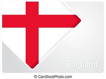 English flag design background. Vector illustration.