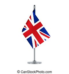 English flag, flat layout, vector illustration