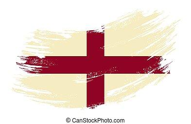 English flag grunge brush background. Vector illustration.