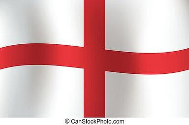 English Flag Old Original Background Color