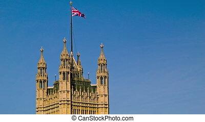 English Flag on Westminster