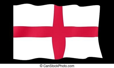 English flag .  Waving.