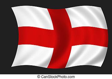 English flag - waving flag of England - english flag