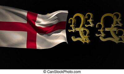 English flag with pound currency symbols