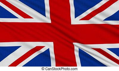 English flag, with real structure of a fabric