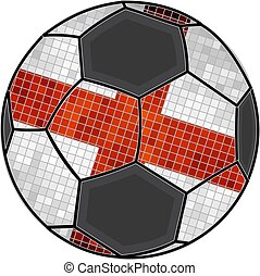 English flag with soccer ball background