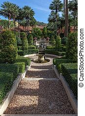 english garden in full summer colour