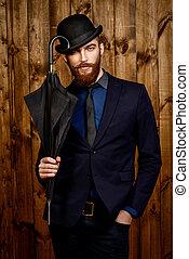 english gentleman - Elegant man with beard and mustache ...