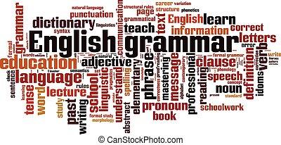 English grammar.eps - English grammar word cloud concept....