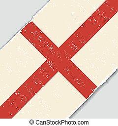 English grunge flag. Vector illustration.