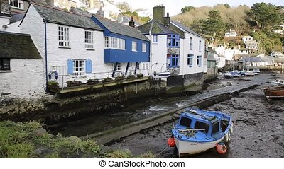 English harbour Cornwall winter - English harbour Polperro...