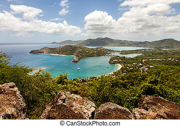 Tropical Caribbean Landscape of English Harbour and Nelson's Dockyard in Antigua