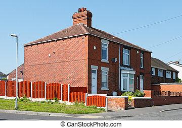 English house at street
