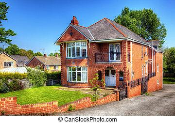 English house with a garden
