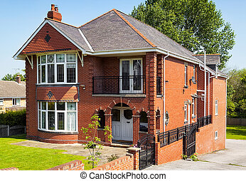 English house with garden
