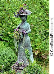 English Lady in Garden